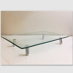 Other - Contemporary Footed Rectangular Glass Platter